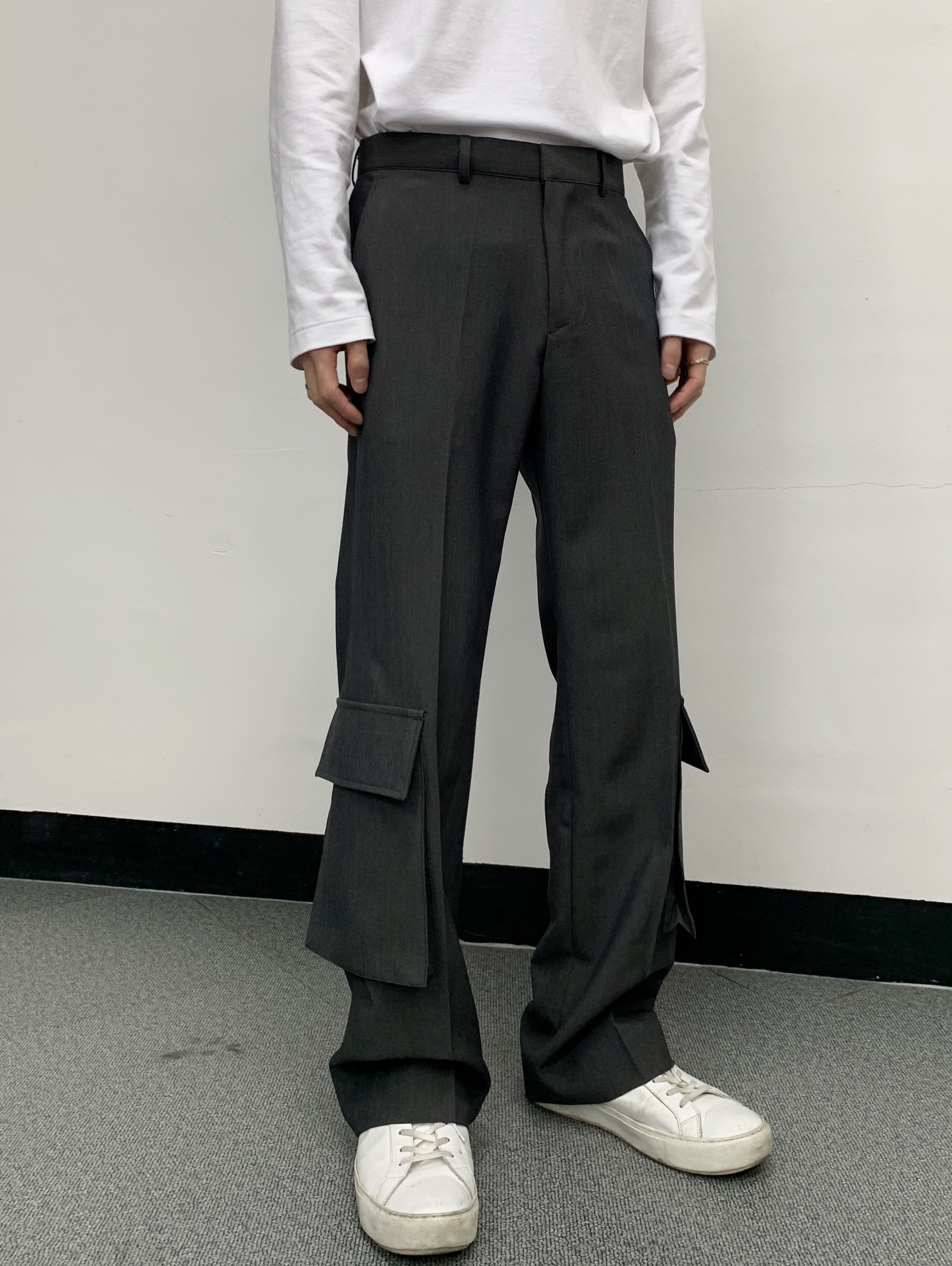 Lk below pocket slacks
