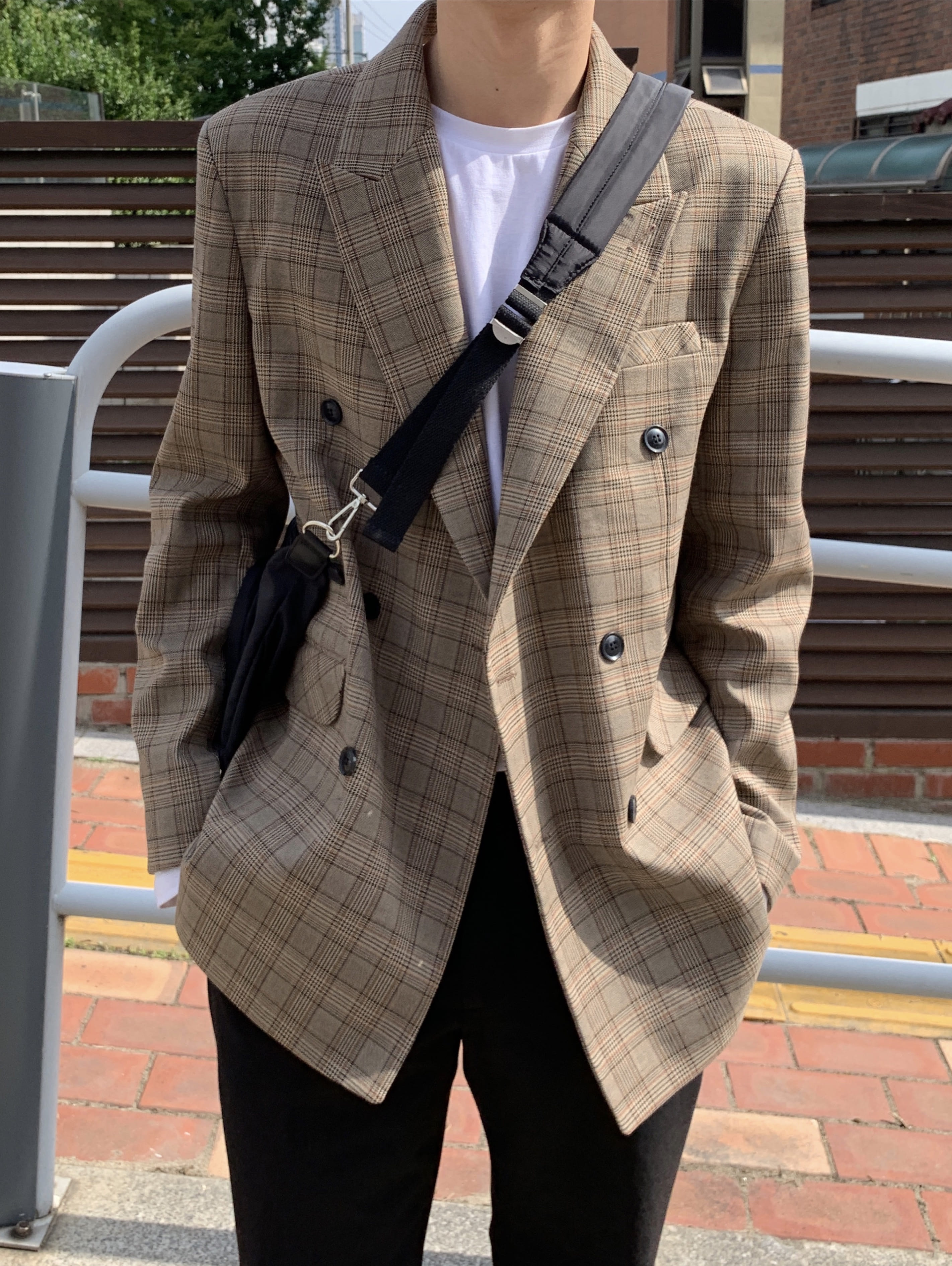 ND glan checked double blazer